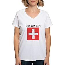 Switzerland Flag (Distressed) T-Shirt