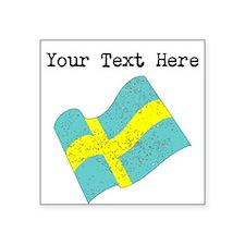 Sweden Flag (Distressed) Sticker