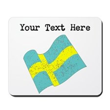 Sweden Flag (Distressed) Mousepad