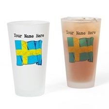 Sweden Flag (Distressed) Drinking Glass