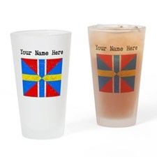 Sweden Norway Union Flag (Distressed) Drinking Gla