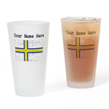 Norrland Flag (Distressed) Drinking Glass