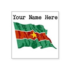 Suriname Flag (Distressed) Sticker
