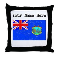 Old St Helena Flag (Distressed) Throw Pillow