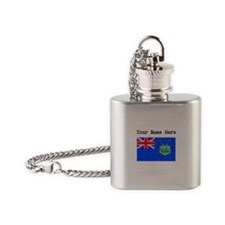 Old St Helena Flag (Distressed) Flask Necklace