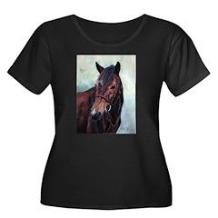 Rejoice! Women's Plus Size Scoop Neck Dark T-Shirt