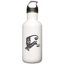 Simian Skateboarder Water Bottle