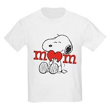 Snoopy Mom Hug Kids Light T-Shirt