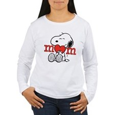 Snoopy Mom Hug Long Sleeve T-Shirt