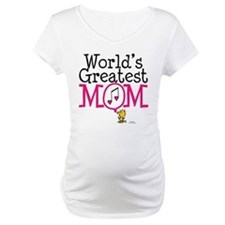 Woodstock - World's Greatest Mom Maternity T-Shirt