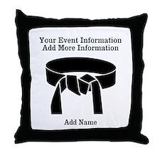 Karate Tournament Throw Pillow
