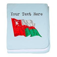 Oman Flag (Distressed) baby blanket