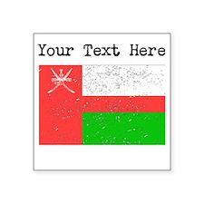 Oman Flag (Distressed) Sticker