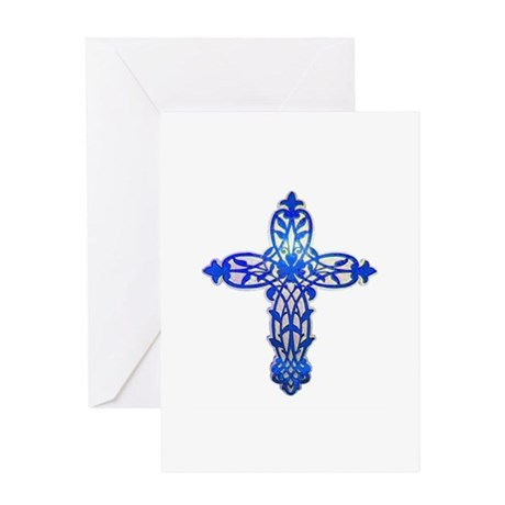 Victorian Cross Greeting Card