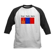 Mongolia Flag (Distressed) Baseball Jersey