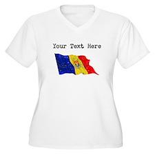 Moldova Flag (Distressed) Plus Size T-Shirt