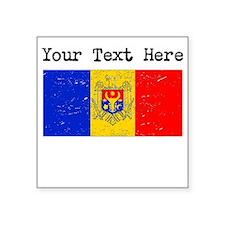 Moldova Flag (Distressed) Sticker