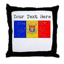 Moldova Flag (Distressed) Throw Pillow