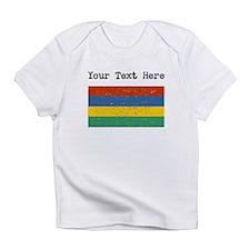 Mauritius Flag (Distressed) Infant T-Shirt