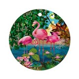 Flamingo Paradise Ornament (Round)