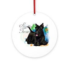 SCOTTISH TERRIER DOG Ornament (Round)