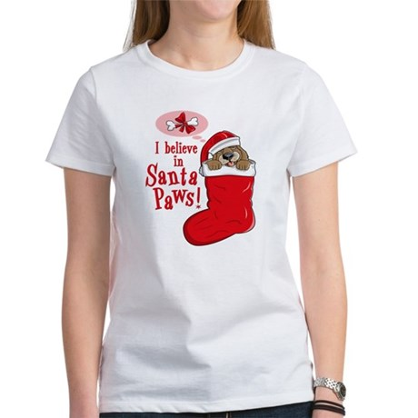 Santa Paws Puppy Women's T-Shirt