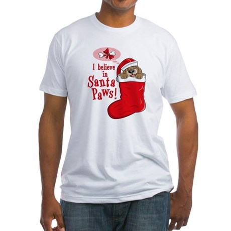 Santa Paws Puppy Fitted T-Shirt