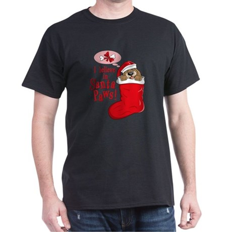 Santa Paws Puppy Dark T-Shirt