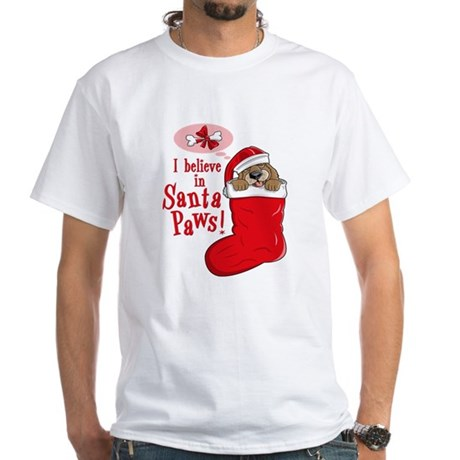 Santa Paws Puppy White T-Shirt