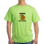 michigan gone to the dogs Green T-Shirt