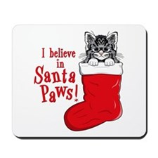 Santa Paws Kitty Mousepad