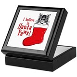 Santa Paws Kitty Keepsake Box