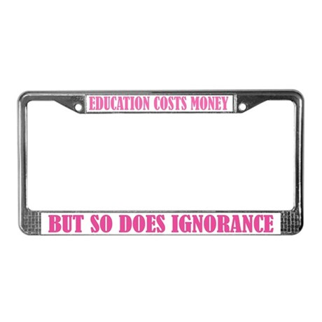 Education License Plate Frame