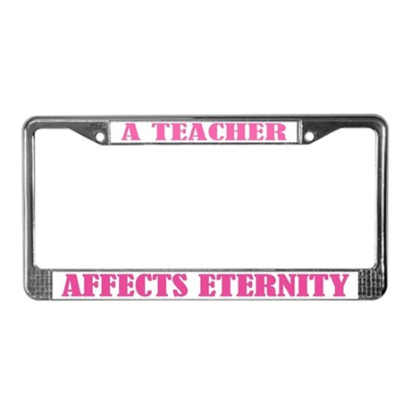 A Teacher License Plate Frame