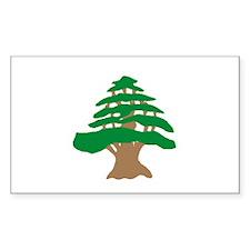 Cedar Tree Rectangle Decal
