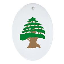 Cedar Tree Oval Ornament