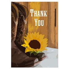 Country Sunflower Thank You Notes 5x7 Invitations