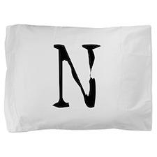 Acoustic Monogram N Pillow Sham