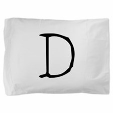 Acoustic Monogram D Pillow Sham