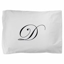 Edwardian Script-D.png Pillow Sham