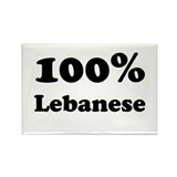 100% Lebanese Rectangle Magnet (10 pack)