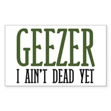 Geezer Rectangle Decal