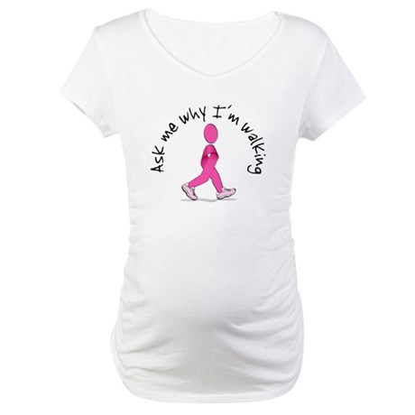 Ask Me Why I Am Walking Maternity Shirt