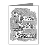 Love & Hate Note Cards (Pk of 10)