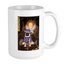 The Queen & Sir Pug Mug