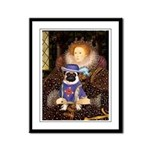 The Queen & Sir Pug Framed Panel Print