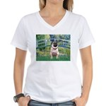 Bridge / Pug Women's V-Neck T-Shirt