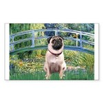Bridge / Pug Sticker (Rectangle)