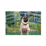 Bridge / Pug Rectangle Magnet