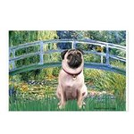 Bridge / Pug Postcards (Package of 8)